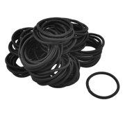 80 Pcs Nylon Bobbles Stretchy Hair Ties Hair Bands Ponytail Holders Black 396d001e88b