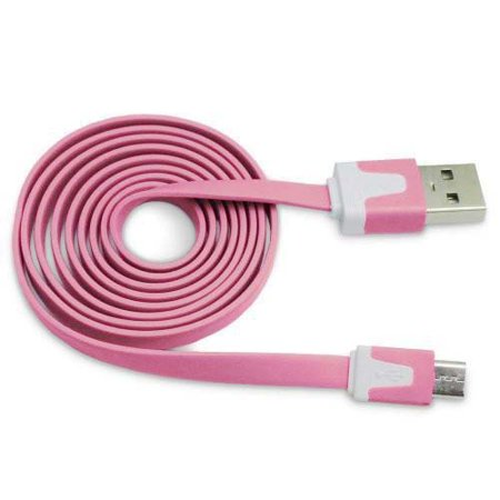 Importer520 Light Pink 3m 10 Ft (Extra Long) Micro USB Data Sync Charger Cable forSamsung EverLight Pink A667