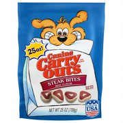 Canine Carry Outs Steak Bites Beef Flavor Dog Treats, 25 Oz.