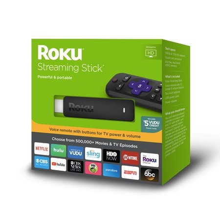 Roku Streaming Stick HD - WITH 30-DAY FREE TRIAL OF SLING INCLUDING CLOUD DVR ($40+ (Best Internet Streaming Device For Tv)