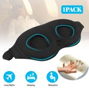 014c674b6 Travel Sleeping Eye Mask 3D Memory Foam Padded Shade Sleep Blindfold with  Ear Plugs for Men