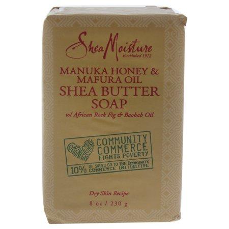 (3 pack) SheaMoisture Manuka Honey & Mafura Oil Intensive Hydration Bar Soap, 8 oz