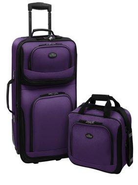 U.S. Traveler Rio 2-Piece Carry-On Luggage Set