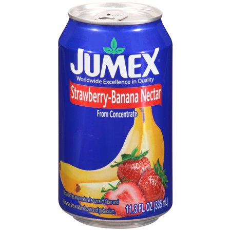 (12 Pack) Jumex Fruit Nectar, Strawberry and Banana, 11.3 Fl Oz, 1 Count