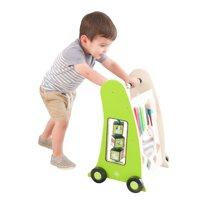 KidKraft Toddler Push Along Play Cart - Colorful Toys for Kids, Musical Toys, Walking Toys, Interactive Multi Use Walking Baby Toy