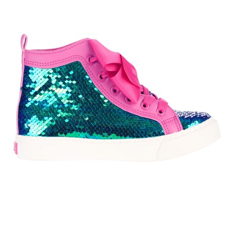 Jojo Siwa Girl's Sequin High Top Sneaker With (Star Girls Shoes)