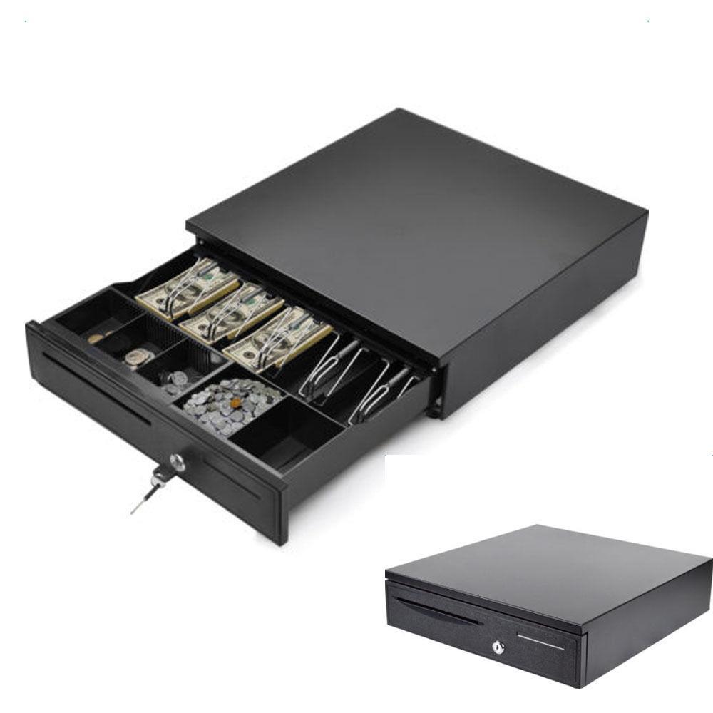 Ktaxon Portable 5 Bill 5 Coin Tray Cash Register Till Lockable Money Drawer  Box System Works