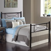 Cheerwing 12.7'' High Metal Platform Bed Frame with Two Bowknot Headboards,Easy Assembly,Twin Full Size