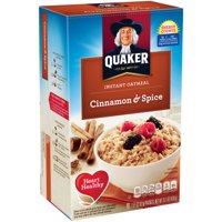(4 Pack) Quaker Instant Oatmeal, Cinnamon & Spice, 10 Packets