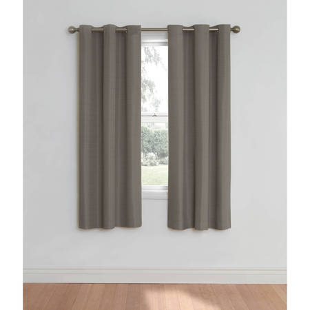 Eclipse Nottingham Thermal Energy-Efficient Grommet Curtain Panel Black Double Gang Grommet