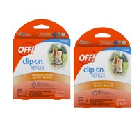(2 pack) OFF! Clip-On Mosquito Repellent Refill, 2 count, 0.0032 Ounces
