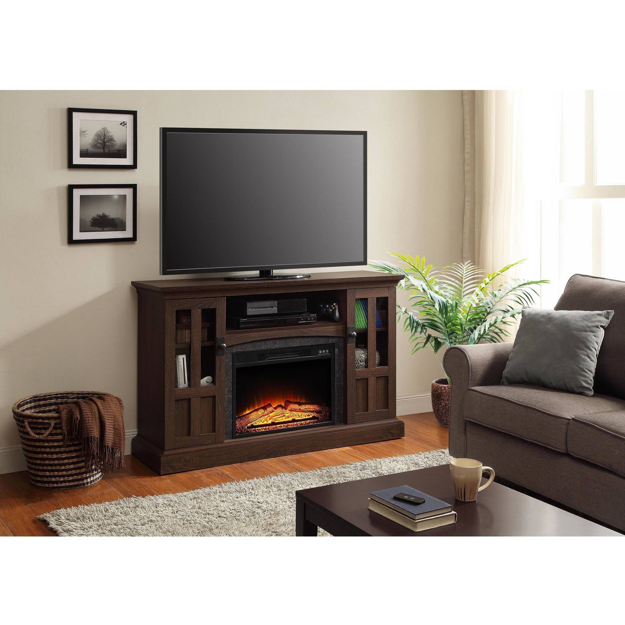 Sarah Tv Stands Whalen Media Fireplace Console For Tvs Up To 60