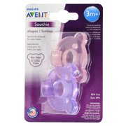 Philips Avent Soothie Bear Shape BPA Free Pacifier, 2 Count Blue/Green 3m+ SCF194/03