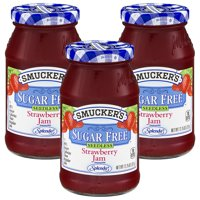 (3 Pack) Smucker's Sugar Free Seedless Strawberry Jam, 12.75 oz