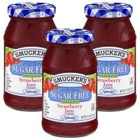 (3 Pack) Smucker's Sugar Free Seedless Strawberry Jam, 12.75 oz