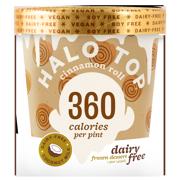 Halo Top Dairy Free Frozen Dessert Cinnamon Roll, 1.0 PT