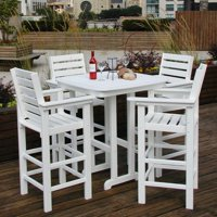 POLYWOOD® Captain 5 pc. Recycled Plastic Bar Height Dining Set