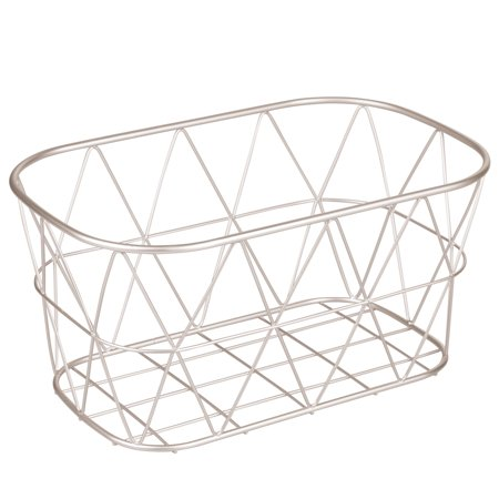Better Homes & Gardens Small Bathroom Satin Wire Storage Basket, 1 (Bathroom Storage Baskets)