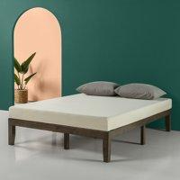 """Zinus Mark 14"""" Wood Platform Bed, Walnut, Multiple Sizes"""