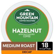 Green Mountain Coffee Hazelnut Decaf Coffee, Keurig K-Cup Pods, Medium Roast, 18 Count