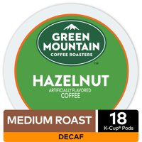 Green Mountain Coffee Hazelnut Decaf, Flavored Keurig K-Cup Pod, Light Roast, 18 Ct