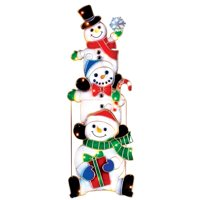 Lighted Stacked Snowmen Outdoor Christmas Decoration