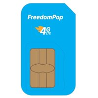 FreedomPop LTE SIM Kit - 3-In-1 - Voice/Data Bundle Prepaid Carrier Locked - 1 GB