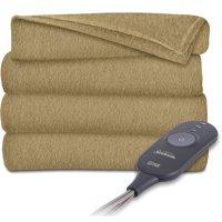 Sunbeam Electric Heated Throw Blanket | Fleece, 3 Heat Settings