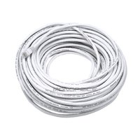 Monoprice Cat6 Ethernet Patch Cable - Network Internet Cord - RJ45, Stranded, 550Mhz, UTP, Pure Bare Copper Wire, 24AWG, 100ft, White