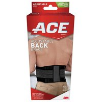 ACE Moderate-Stabilizing Support Adjustable Back Brace, Black/Gray