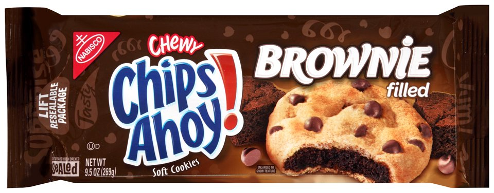 (2 Pack) Nabisco Chewy Chips Ahoy! Brownie Filled Soft Cookies, 9.5 oz