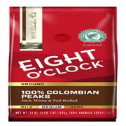 Eight O'Clock 100% Colombian Peaks Ground Coffee 33 Oz. Bag