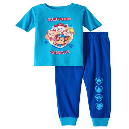 Paw Patrol Paw patrol baby toddler boys' short sleeve tight fit pajamas, 2pc set](Clearance Toddler Boy Clothes)