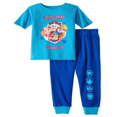 Paw Patrol Paw patrol baby toddler boys' short sleeve tight fit pajamas, 2pc set](Paw Patrol Dress)