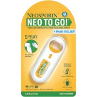 Neosporin + Pain Relief Neo To Go! First Aid Antiseptic/Pain Relieving Spray,.26 Oz