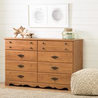 South Shore Prairie 8-Drawer Double Dresser, Country Pine