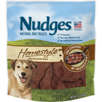 Nudges Homestyle with Real Chicken Bacon Dog Treats, 16 oz.