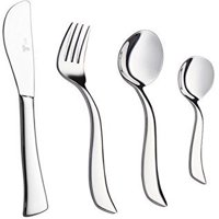Royal 20-Piece Silverware Set 18/10 Stainless Steel Utensils Forks Spoons Knives Set, Mirror Polished Cutlery Flatware Set - Curved Design