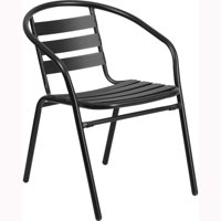 Flash Furniture Metal Restaurant Stack Chair with Aluminum Slats Multiple Colors