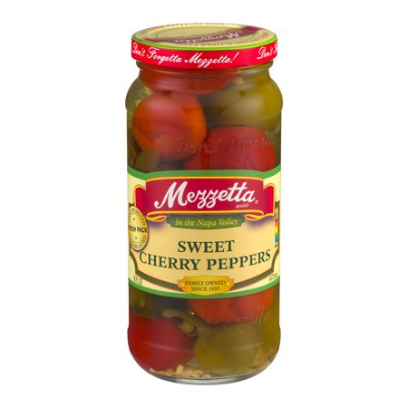 - (6 Pack) Mezzetta Sweet Cherry Peppers, 16.0 FL OZ