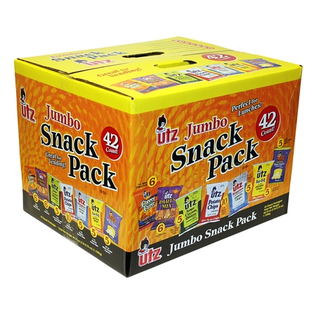 Utz Variety Snacks Pack, 42 - Healthy Fun Snacks For Halloween