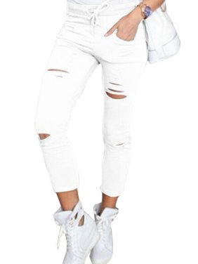 Women's High Waisted Ripped Skinny Jeans