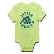 CafePress - Little Buddha Yoga Symbol Baby Rompers Blue - Baby Light Bodysuit