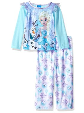 Disney Girls' Frozen 2-Piece Pajama Set, White, Size: 2T