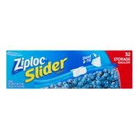 Ziploc Slider Storage Bags, Gallon, 32 Count
