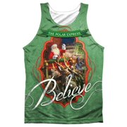 c5c789a532e01f Polar Express Santa (Front Back Print) Mens Sublimation Tank Top Shirt