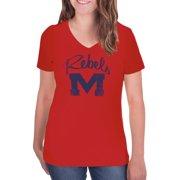 innovative design 52fea cc5c6 NCAA Ole Miss Rebels Women s V-Neck Tunic Cotton Tee Shirt. Price