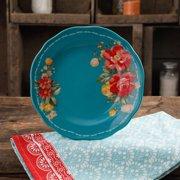 """The Pioneer Woman Vintage Floral 8.5"""" Teal Salad Plate"""