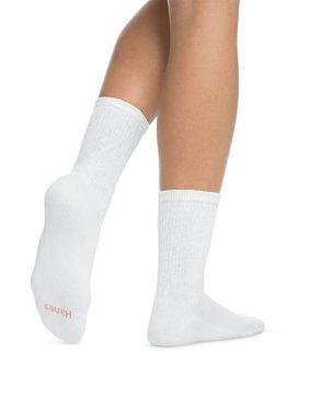 Ladies ComfortBlend Crew Socks, 6 Pack