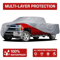 Motor Trend Four Season Waterproof Outdoor Truck Cover for Heavy Duty Use - 4 Layers Snow, Water, Sun , UV Protection